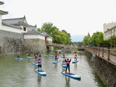 第五回駿府城公園お掘りSUP体験スクール